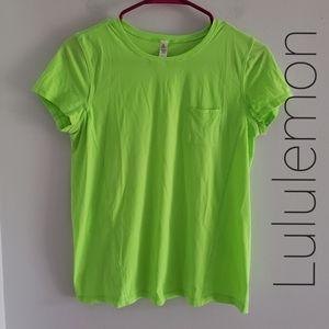 Lululemon Crew Neck Tee With Pocket